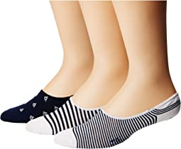 Sailboats Liner 3-Pack Socks