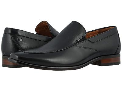 Florsheim Postino Moc Toe Venetian Slip-On (Black Smooth/Scratch Print) Men