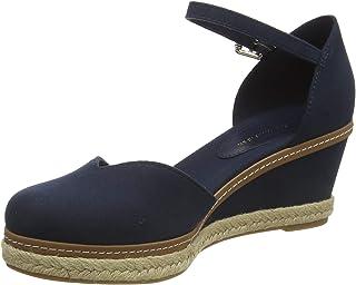 Tommy Hilfiger Women's Basic Closed Toe Mid Wedge Open Sandals, Beige (Stone Aep), 5 UK