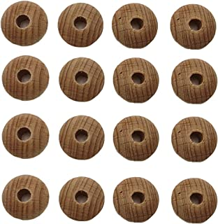 Arakierst 20pcs Wooden Abacus Beads Teething Unfinished Loose Round Spacer Shape DIY Handmade Mom Beaded Necklace Making 2413mm 20pcs