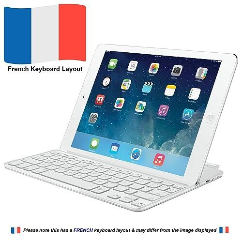 Logitech Ultrathin Keyboard mini teclado para móvil Blanco AZERTY Francés Bluetooth - Teclados para móviles (Blanco, Mini, iPad mini, AZERTY, Francés, Batería)