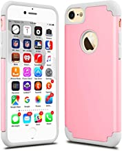 iPhone 7 Case, CaseHQ Slim Extreme Impact Protection Heavy Duty Dual layer PC Rugged Bumper Drop Protection Scratch Resistant Case for Apple iPhone 7 2016 Release pink/gray
