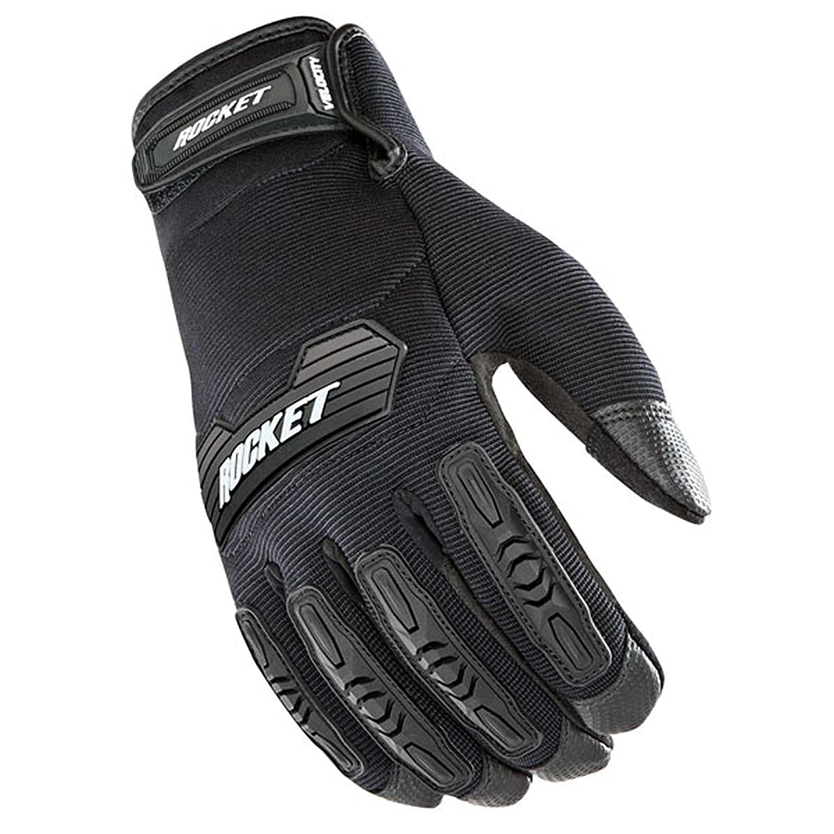 Joe Rocket Velocity 2.0 Men's Textile Street Motorcycle Gloves - Black/Black/Large