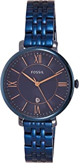Fossil Women's ES4094 Jacqueline Analog Quartz Blue Watch