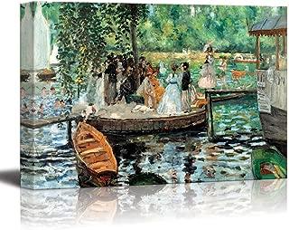 wall26 - La Grenouillere by Pierre-Auguste Renoir - Canvas Print Wall Art Famous Oil Painting Reproduction - 24