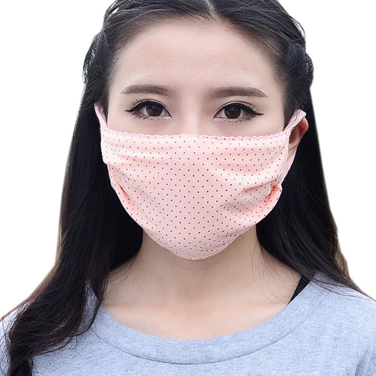 ステレオタイプ物思いにふけるコスト夏の薄いコットンマスク、肌色のドット