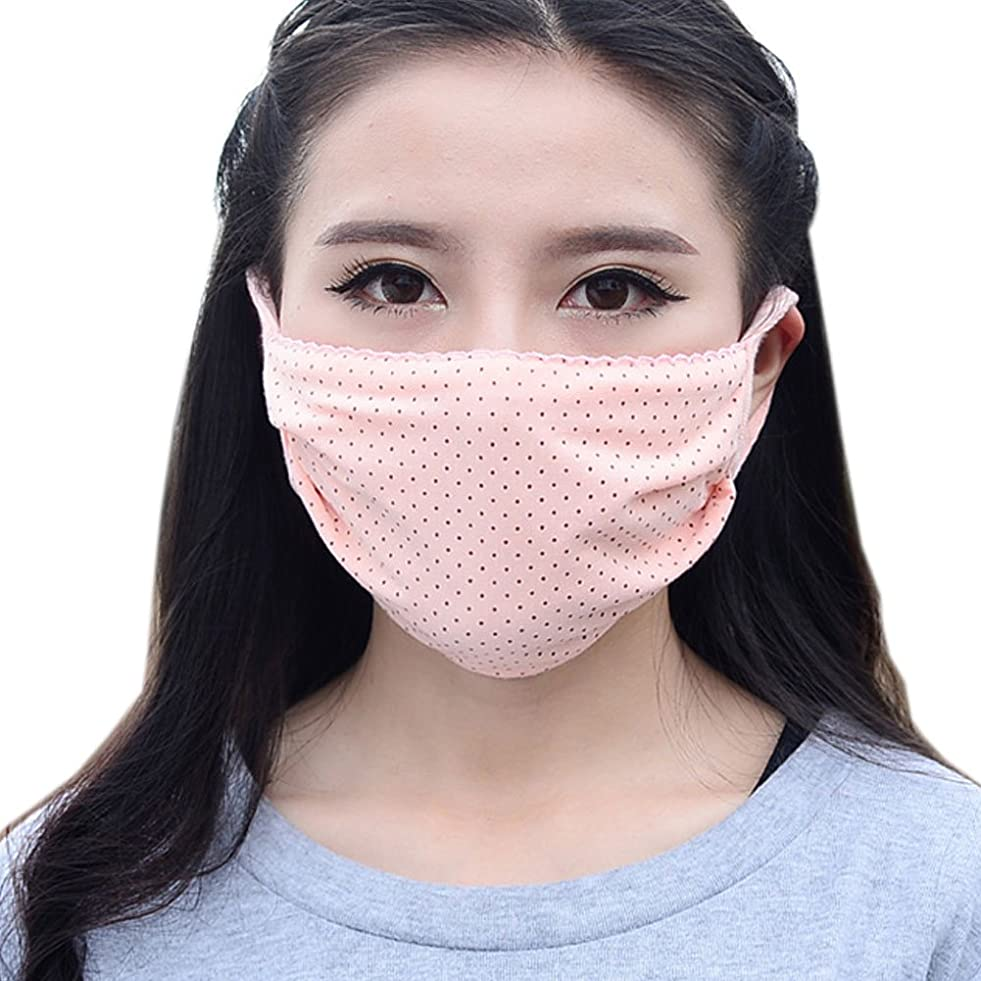 起業家溶接チャップ夏の薄いコットンマスク、肌色のドット