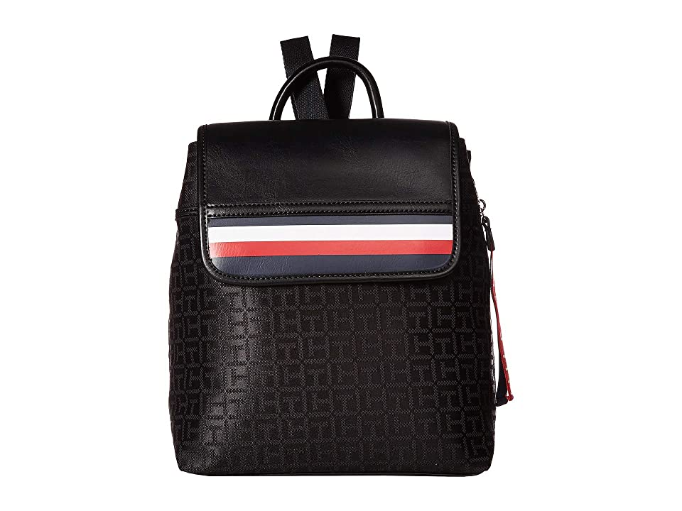 Tommy Hilfiger Gianna Backpack (Black/Tonal) Backpack Bags