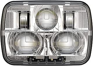 JW SPEAKER 0554461 12-24V DOT/ECE LED RHT High & Low Beam Heated Headlight with Chrome Inner Bezel