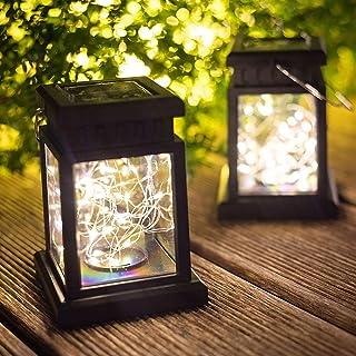 SLGOL Solar Lanterns Lights Outdoor Waterproof Hanging Solar Lamp Powered LED for Garden Landscape Decoration Pathway Pati...