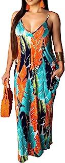 Women's Casual Sexy Summer Stripe Bodycon Long Maxi...