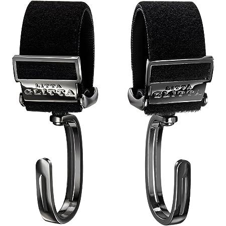 ベビーカーフック2個セット360度回転 ピクシーフック LITTA GLITTA リッタグリッタ 【特許出願中】 Pixie Hooks (Metallic Black)