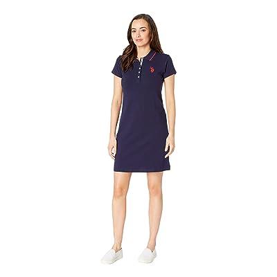 U.S. POLO ASSN. Plain Polo Dress (Evening Blue) Women