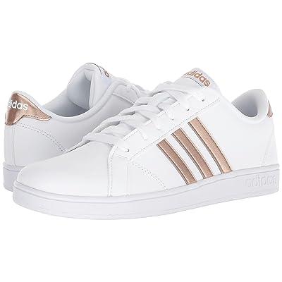 adidas Kids Baseline (Little Kid/Big Kid) (White/Copper Metallic/Black) Kids Shoes