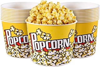 MyLifeUNIT Popcorn Boxes, 85 OZ Paper Popcorn Containers for Party and Movie Night (20 Pack)
