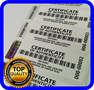certificate of authenticity for product