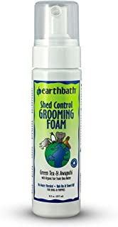 Earthbath Natural Waterless Shed Control Grooming Foam For Dogs And Puppies With Green Tea Leaf Essence, White, 8Oz