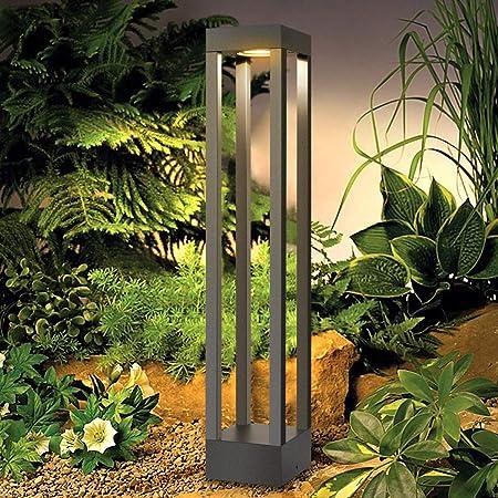 LEDMO Lampe de Jardin Exterieur 9W,3000K Borne lumineuse exterieur,IP65 Etanche Eclairage de Jardin,1000LM,AC85-265V,Noir Alliage d'aluminium-620mm pour les jardins,chemins,pelouses