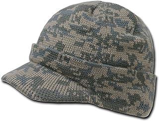 Knit Woodland Digital Camo Cuff Beanie Visor - Winter Wear/Sports, Grey