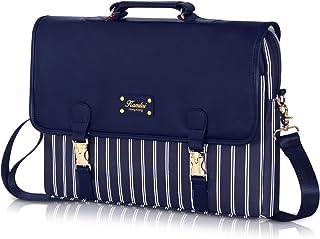 Kamlui Laptop Bag - for Women PU Waterproof Computer Laptop Case Shoulder Messenger 15.6 inch Macbook Pro Air (Blue)