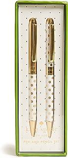 Kate Spade New York Women's Gold Dot Pen & Pencil Set, Gold/White, One Size
