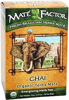 The Mate Factor Herb Tea, Energizing, Organic, Chai, 20 Bag (Pack of 2)