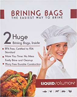 New and Improved Liquid Solution Turkey Brining Bags - No BPA - Heavier Duty Materials - Thicker Seams - Gusseted Bottom -...
