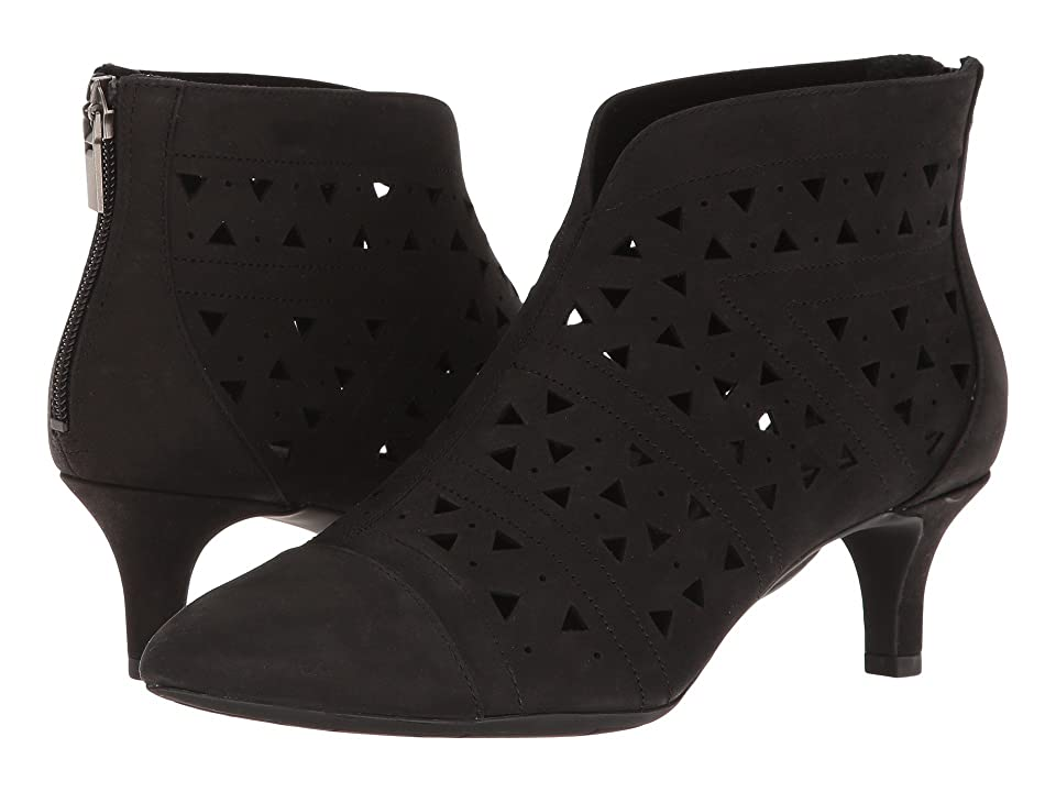 Rockport Total Motion Kalila Perf Bootie (Black Nubuck) Women