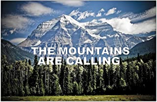 SJC The Mountains are Calling Poster Wall Print Inspirational Motivational Classroom Home Office Dorm 18 X 12 in SJC103