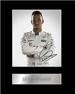 iconic pics Lewis Hamilton Signed Mounted Photo Display Mercedes