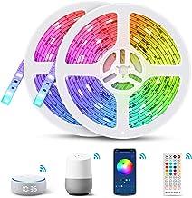 Slimme ledstrip, TASMOR 10m Alexa ledstrip instelbaar via app, smartphone-bediening, compatibel met Amazon Alexa Echo Dot...