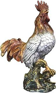 Fountasia Animal Kingdom D/écoration de Jardin en m/étal avec Coq en Bronze Antique