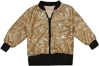 CosSky Little Girls Gold Jacket Outwear Size 8 10