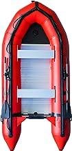 Emaxusa Inflatable Boat Aluminum Floor Aluminum Transom 4 Person Professional Heavy Duty Saltwater Fishing Boat ATRXXX