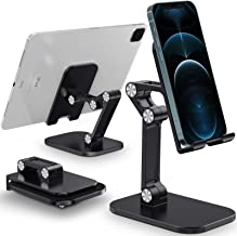 Tensea Cell Phone Stand iPad Holder for Desk, Adjustable Foldable Flexible iPhone Cradle Tablet Vertical Stand for Office ...