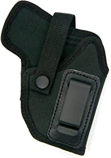 Dual-Function Right Hand OWB Belt Slide or Concealment IWB Clip-On Holster with Body Shield for SIG SAUER P238, SPRINGFIELD 911 380, TAURUS TCP with Crimson Trace or Lasermax Under Barrel Laser
