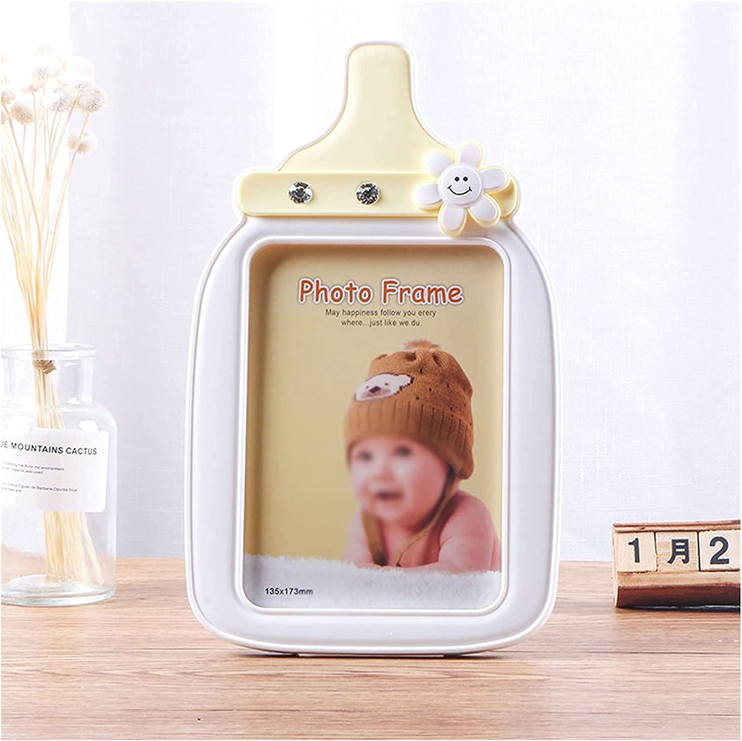 YQHLHT Free shipping 5X7 Children's Photo Safety and trust Frame Bottle Milk Fra Creative