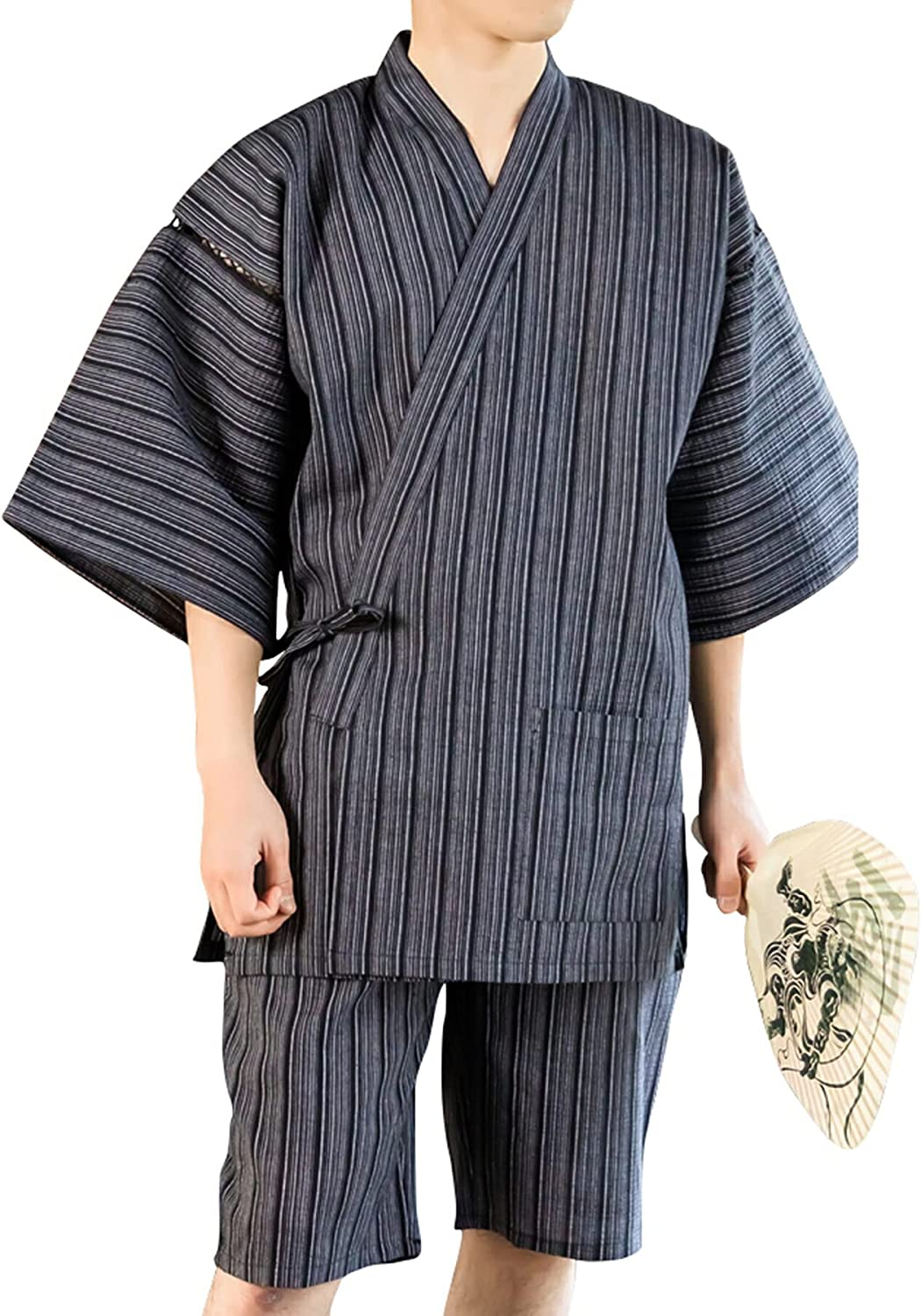 Japanese Max 75% Mail order cheap OFF traditional mens summer Jinbei wear