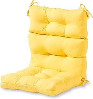 Greendale Home Fashions Indoor/Outdoor High Back Chair Cushion, Sunbeam