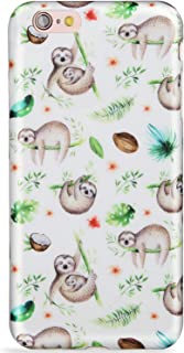 LUMARKE iPhone 6 Case,iPhone 6S Case,Slim-Fit Glossy TPU Clear Bumper Flexible Soft Rubber Silicone Best Protective iPhone 6 6s Phone Case Cover Cute Sloth for Girls Women