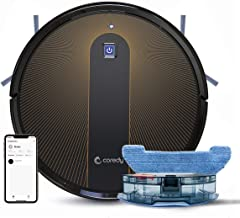 Coredy R750 Robot Vacuum Cleaner, Compatible with Alexa, Mopping System, Boost Intellect, Virtual Boundary Supported, 1600Pa Suction, Super-Thin, Upgraded Robotic Vacuums, Cleans Hard Floor to Carpet