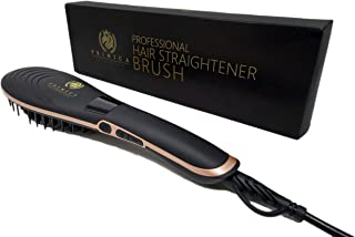 2019 Hair Straightener Brush   PROFESSIONAL Ceramic Iron Hair Straightening Brush   Negative Ion Ceramic Comb for All Hairstyles, Anti-Scald, Adjustable Temperature