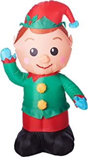 Holiday Time Airblown Inflatable Christmas Elf 4FT