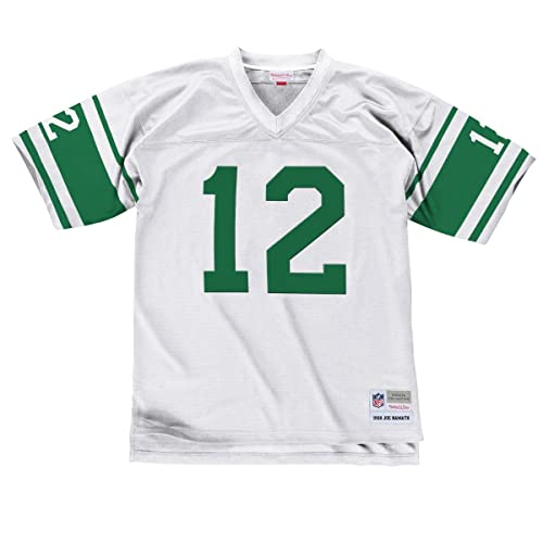 e158db9a4 Mitchell   Ness Joe Namath 1968 New York Jets Road White Legacy Jersey Men s