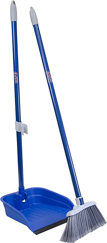 Quickie Stand And Store Stand Store Lobby Broom And Dustpan Set 487 1 Pack