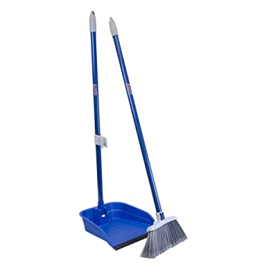 Quickie Stand and Store Stand & Store Long Handle, Upright Broom and Dustpan Set for Use in Home, Kitchen, Office, Lobby, and Outdoors, 1-Pack