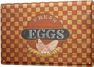 Tin Sign Retro Wall Sign  Chicken nest egg fresh  Metal Plate