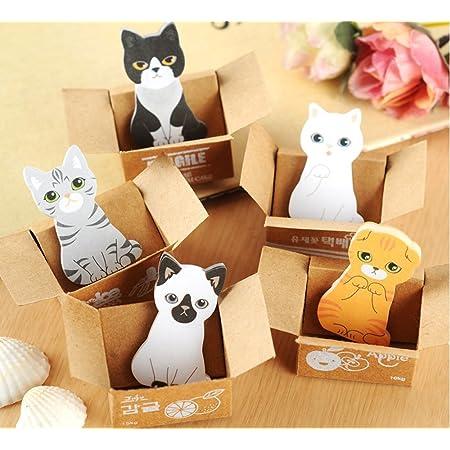 Pack of 5 Yosoo Cartoon Cats Sticky Notes