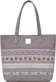 SGJFZD Women's Handbag Large-Capacity Shoulder Bag Messenger Bag Tote Bag Leather Shopping Travel Laptop Bag Fashionable for Ladies Wallet Storage Bag (Color : Gray)