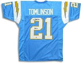 Signed LaDainian Tomlinson Jersey - Blue HOF 17 COA - Autographed NFL Jerseys